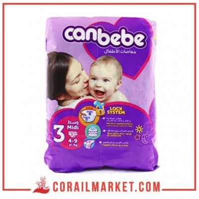 Couches bébé Canbebe N 03 (4-9 kg) 10 couches