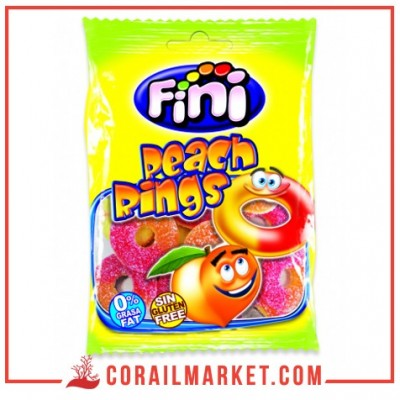 Fini Sour Peach Ring Candy 100 g