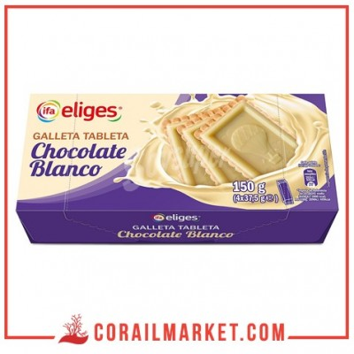 biscuits aux chocolat blanc ifa eliges 150 g