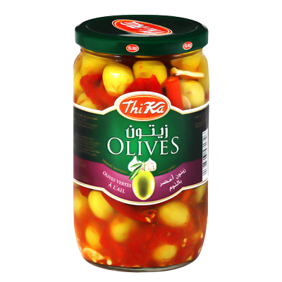 Olives Vertes A L'ail Thika 720G