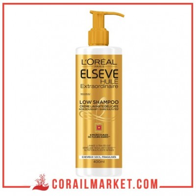 Huile Extraordinaire Low Shampoo Elseve l'oreal 400 ml