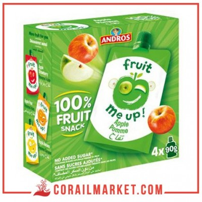 Compote fruit pomme andros 4×90 g